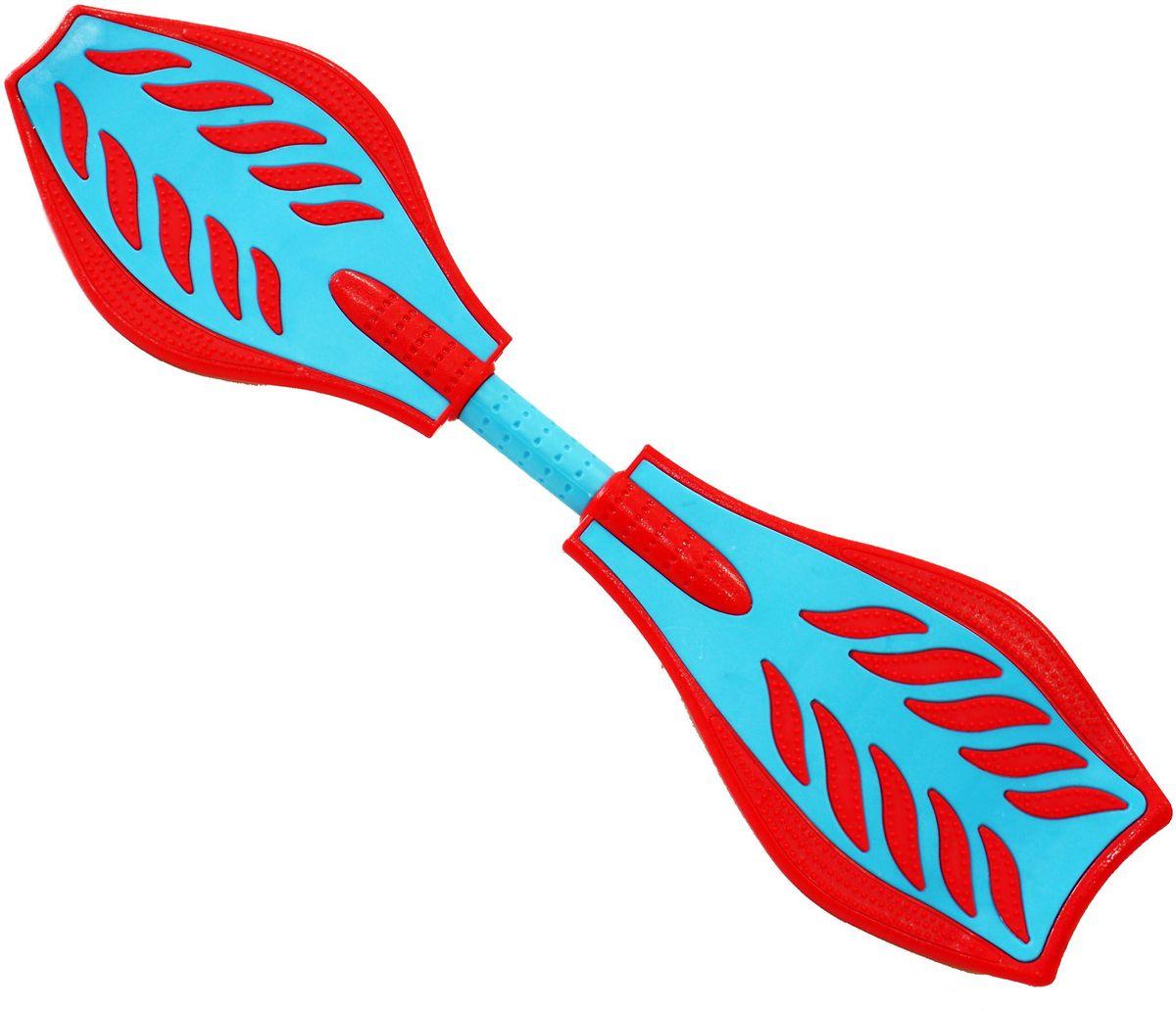 Роллерсерф Waveboard Bright, цвет: красно-синий2224Габариты: 80 х 21 х 11 см. Вес: 2,4 кг. Максимальная нагрузка до 70 кг. База - ударопрочный ABS пластик. Подшипники - ABEC5. Колеса - полиуретан, 78см, 82А Конструкция - торсионная пружина.