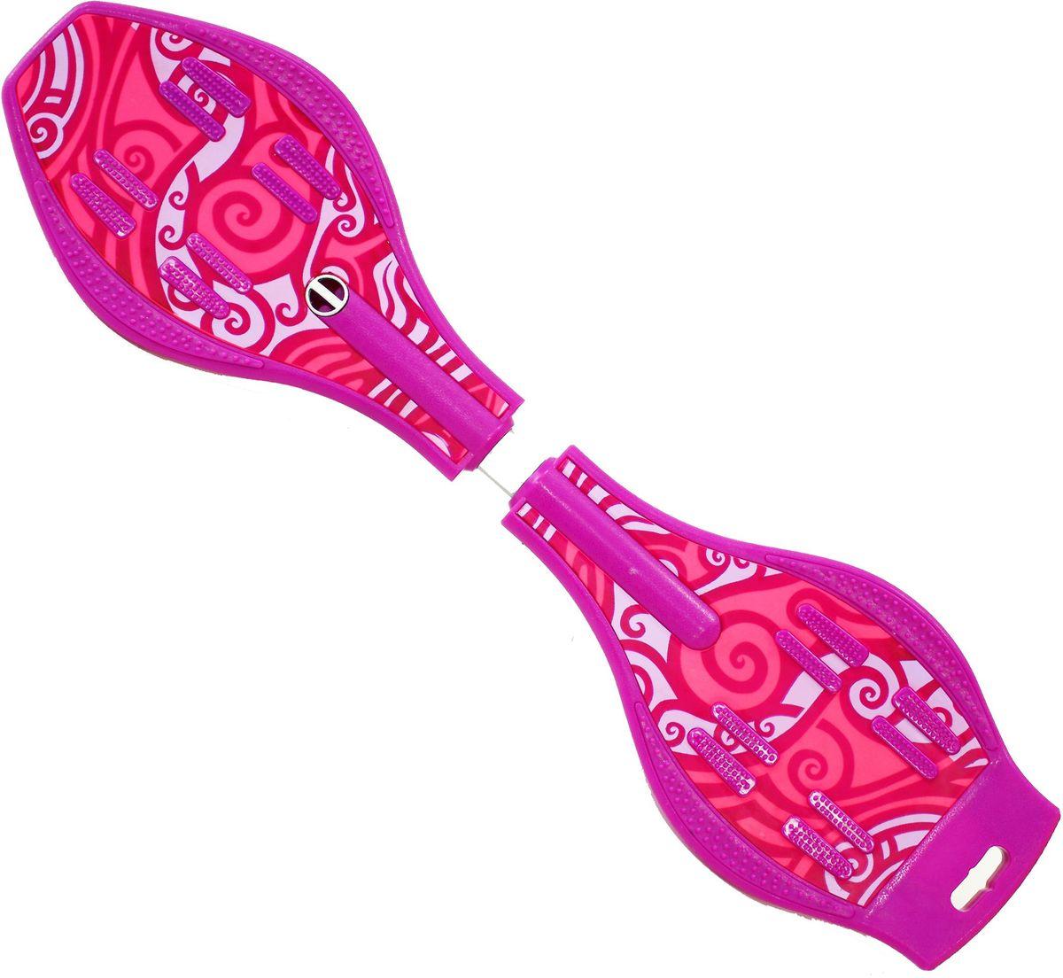 Роллерсерф Dragon Board Totem, цвет: фиолетовыйво2226Габариты: 80 х 21 х 11 см. Вес: 2,4 кг. Максимальная нагрузка: до 70 кг. База - ударопрочный ABS пластик. Подшипники - ABEC5. Колеса - полиуретан, 78см, 82А Конструкция - торсионная пружина.