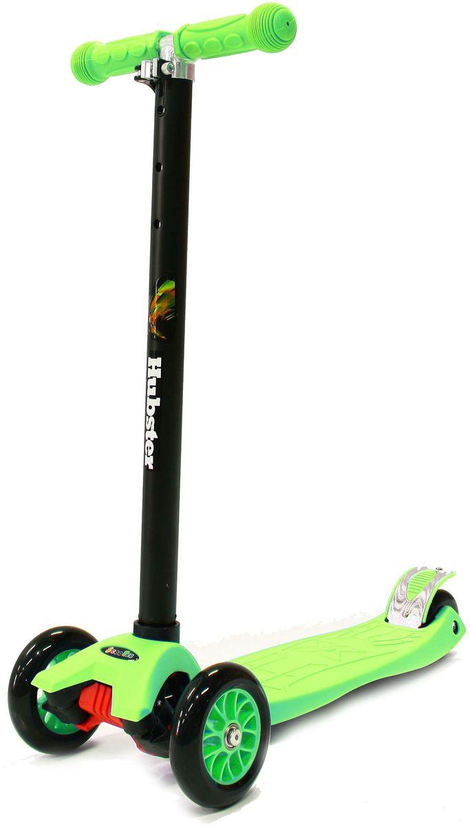 Самокат Hubster Maxi, цвет: зеленыйво2251Высота руля от пола мин/макс: 65/89см. Ширина руля: 25 см. Ширина деки: 11 см. Длина деки: 39 см. Размер колес: 120 мм. Максимальная нагрузка: 60 кг. Подшипники: ABEC7. Вес: 2,4 кг.