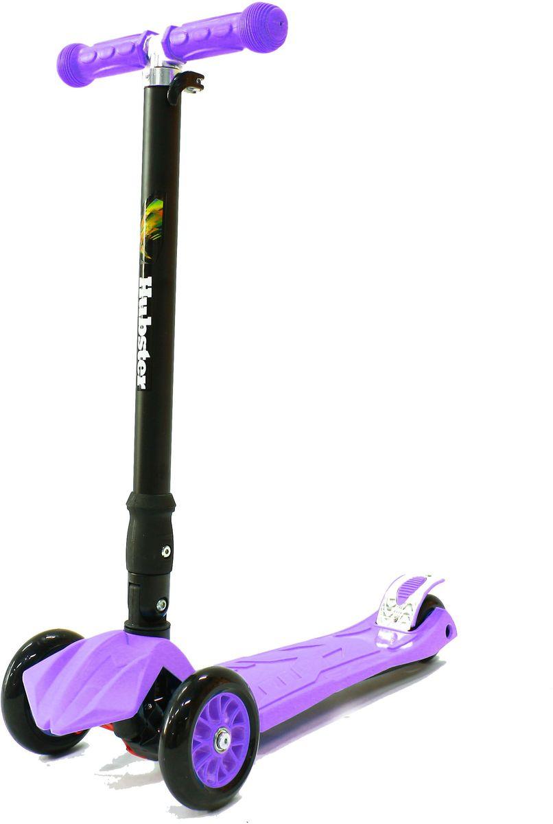 Самокат Hubster Maxi Plus, цвет: фиолетовыйво2260Подходит для мальчиков и девочек. Складная конструкция. Диаметр переднего колеса: 125 мм. Диаметр заднего колеса: 80 мм. Толщина: 24 мм. Максимальная нагрузка: 50 кг. Материал колес: полиуретан. Высота руля: 65-88 см. Вес: 2,5 кг.