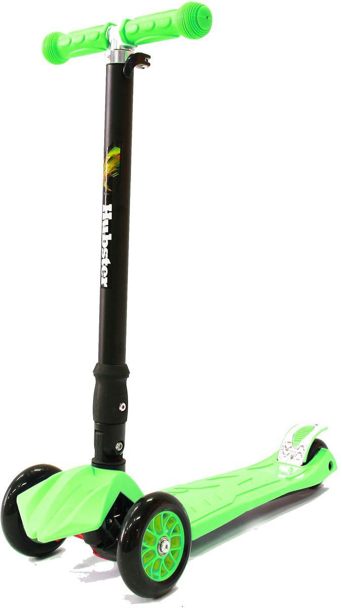 Самокат Hubster Maxi Plus, цвет: зеленыйво2262Подходит для мальчиков и девочек. Складная конструкция. Диаметр переднего колеса: 125 мм. Диаметр заднего колеса: 80 мм. Толщина колес: 24 мм. Максимальная нагрузка: 50 кг. Материал колес: полиуретан. Высота руля: 65-88 см. Вес: 2,5 кг.