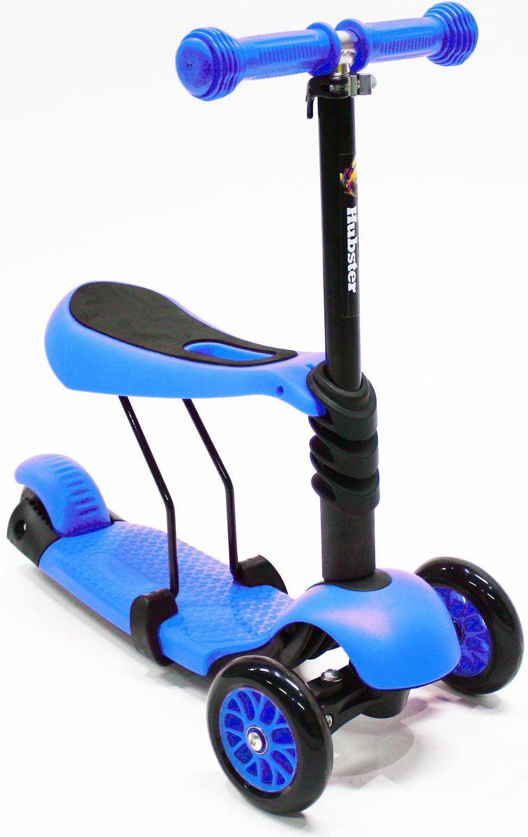 Самокат Hubster Lux, цвет: синийво2272Вес: 2 кг. Упаковка: 59 x 26 x 20 см (0,03 м3). Возраст: oт 2 до 5 лет. Максимальная нагрузка: до 50 кг. Уникальное рулевое управление. Высота руля: 50-72 см.