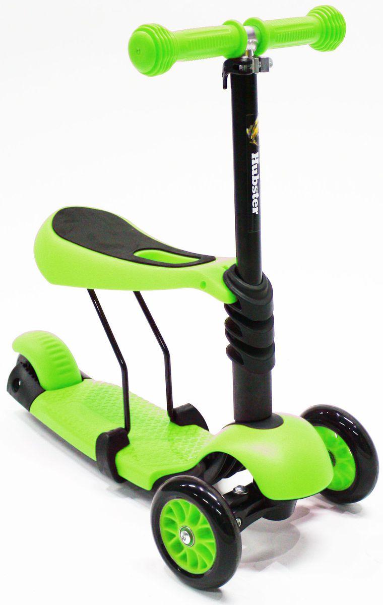 Самокат Hubster Lux, цвет: зеленыйво2273Вес: 2 кг. Упаковка: 59 x 26 x 20 см (0,03 м3). Возраст: oт 2 до 5 лет. Максимальная нагрузка: до 50 кг. Уникальное рулевое управление. Высота руля: 50-72 см.