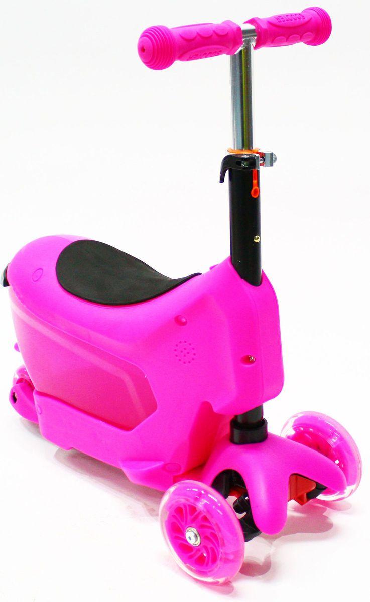 Самокат Hubster Comfort, цвет: розовыйво2275Вес: 2 кг. Упаковка: 59 x 26 x 20 см (0,03 м3). Возраст: oт 2 до 5 лет. Максимальная нагрузка до 50 кг. Уникальное рулевое управление. Высота руля: 50-72 см.