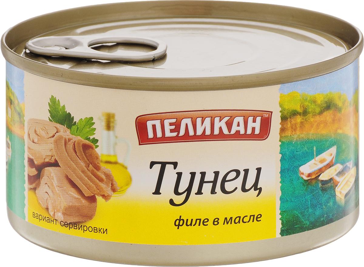 Пеликан тунец филе в масле, 185 г4607043160331Филе натурального тунца используется для приготовления салатов и закусок.