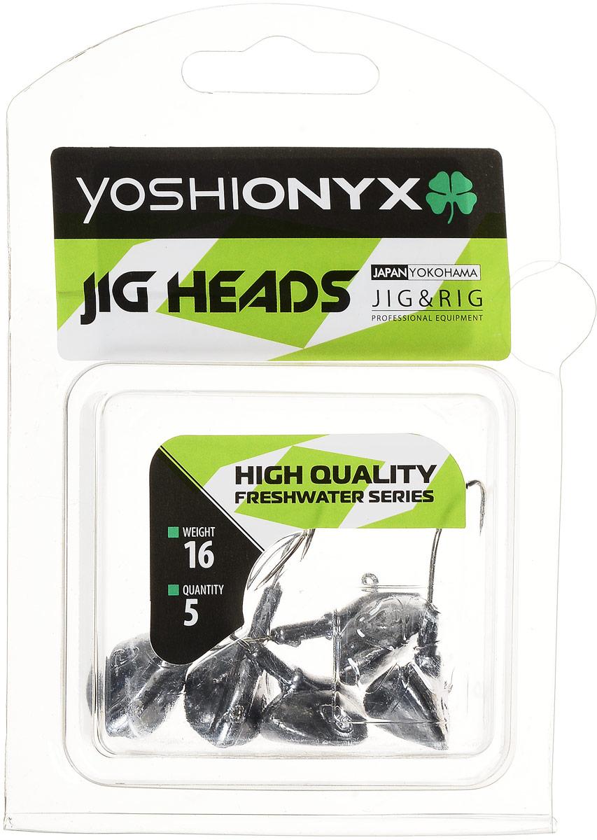 Джиг-головка Yoshi Onyx JIG Bros. Каблучок, крючок Gamakatsu, 16 г, 5 шт96516Джиг-головки Yoshi Onyx JIG Bros. Каблучок используются для огрузки спиннинговых приманок. Специально предназначены для ловли щуки на мягкие приманки на небольшой глубине рядом с водной растительностью. Благодаря особой форме, увеличивается маневренность и управляемость. Джиг-головки оснащены крючком Gamakatsu. Несмотря на кажущуюся простоту этих грузил, от правильного подбора во многом зависит клев хищника. Выбирайте джиговую головку в зависимости от предполагаемого места ловли и используемой с ней приманки, возможной глубины, скорости течения, ветра и прочего.