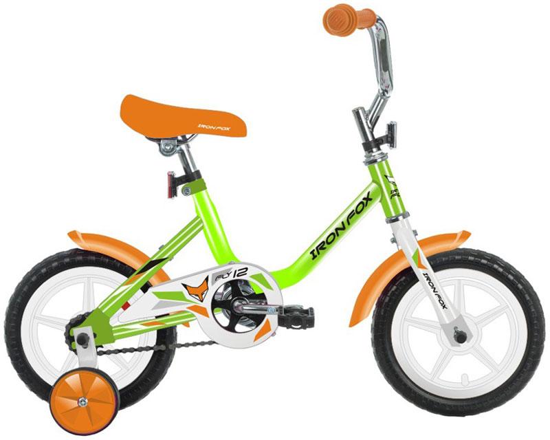 Велосипед детский Iron Fox Fly 12, цвет: зеленый342903Рама: сталь Вилка: жесткая, сталь Количество скоростей: 1 Размер колес: 12 Резина: полимерные 12*1,5 Обода: пластиковые Тормоза: втулочные, ножные Дополнительное оборудование: отражатели, дополнительные колеса, крылья (пластик)