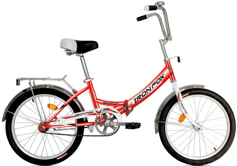 Велосипед детский Iron Fox Fox Rider 20, складной, цвет: красный342911Рама: сталь, складная Вилка: жесткая, сталь Количество скоростей: 1 Размер колес: 20 Резина: Wanda P1033A 20*1,95 Передний переключатель: не