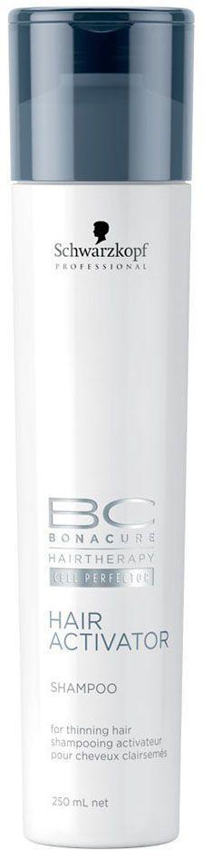 Bonacure Шампунь, активизирующий рост волос Hair Activator Shampoo 250 мл1801305Активизирующий шампунь для редеющих волос. Комбинция активных веществ мягко очищает волосы и кожу головы. Пантенол балансирует содержание влаги в волосах и коже головы. Для достижения максимального результата рекомендуется использовать в комплексе с сывороткой и тоником BC Hair Activator