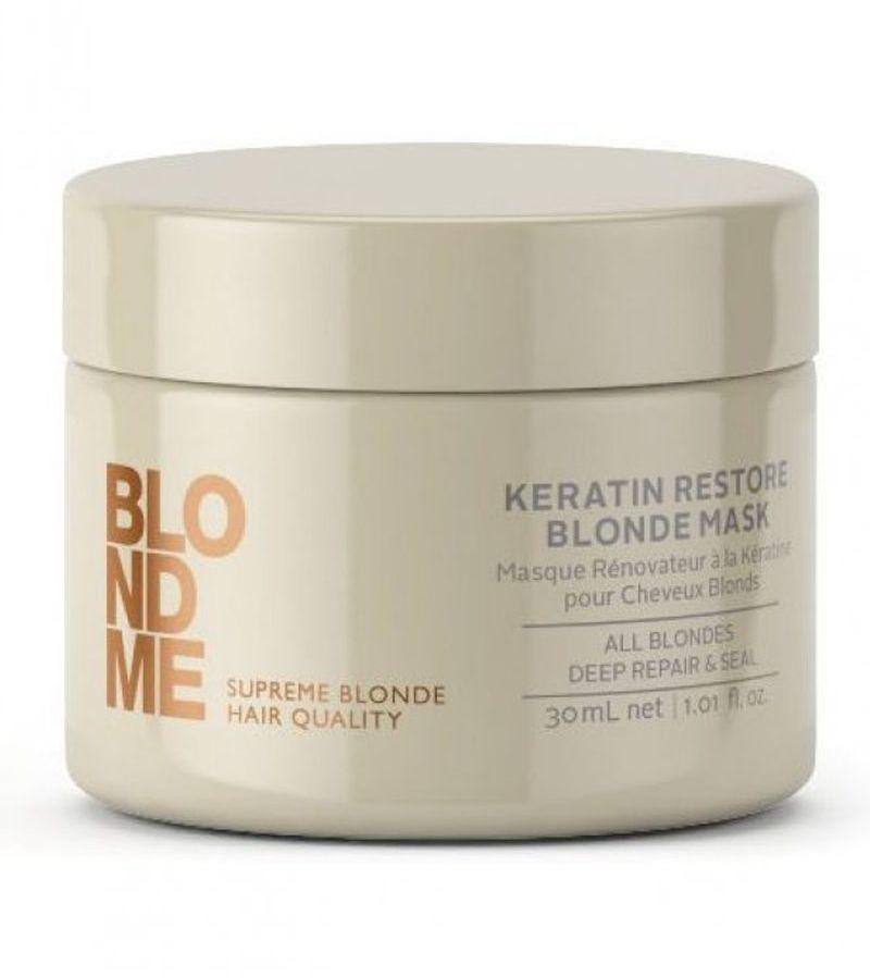 Blondme Маска кератиновое восстановление Blondme Mask All Blondes 200 мл1813765БлондМи Маска кератиновое восстановление. Глубоко питает волосы кератином и укрепляет их изнутри. Насыщает влагой и придает мягкость. Для любых оттенков блонд. Рекомендуется использовать в комплексе с шампунии линии BM BlondMe.