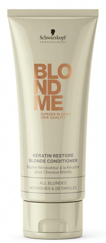 Blondme Кондиционер кератиновое восстановление Blondme Conditioner 200 мл1814633БлондМи Кондиционер кератиновое восстановление. Глубоко питает и облегчает расчесывание и придает здоровый вид волосам любых оттенков блонд. Для всех оттенков блонд. Рекомендуется использовать в комплексе с шампунии линии BM BlondeMe.