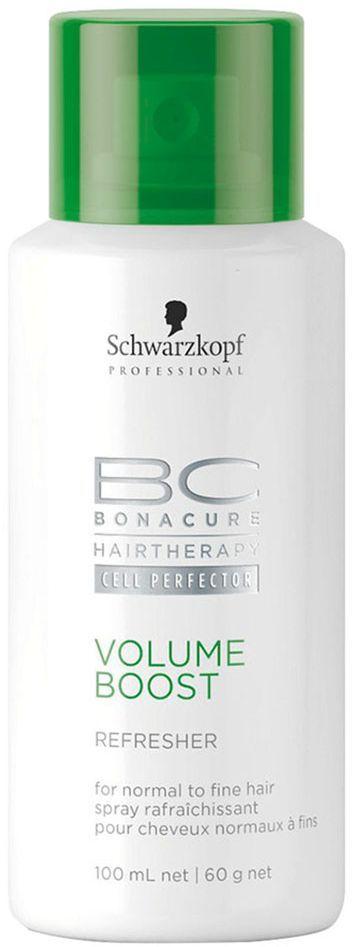 Bonacure Освежающий спрей Пышный Объем Volume Boost Refresher 100 мл1916472Освежающий спрей придающий объем тонким и слабым волосам. Не содержащий воды ухаживающий комплекс имеет в своем составе рисовый крахмал и спирт, который очищает даже очень тонкие волосы. После нанесения спирт испаряется оставляя ощущение свежести, а рисовый крахмал поддерживает объем. Спрей не утяжеляет волосы, благодаря сбалансированной формуле делает волосы более послушными и предотвращает электризацию. Для тонких, сухих волос. Рекомендуется использовать в комплексе с шампунем и муссом BC Volume Boost