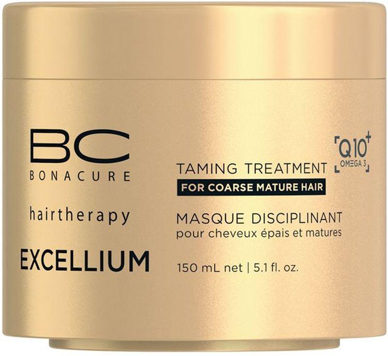 Bonacure Смягчающая маска Excellium Taming Treatment 150 мл1967750Смягчающая маска BC Excellium восстанавливает, питает и смягчает зрелые волосы. Глубоко увлажняет и разглаживает грубые и жесткие волосы, делая их более послушными, наполняя жизненной силой и здоровым блеском