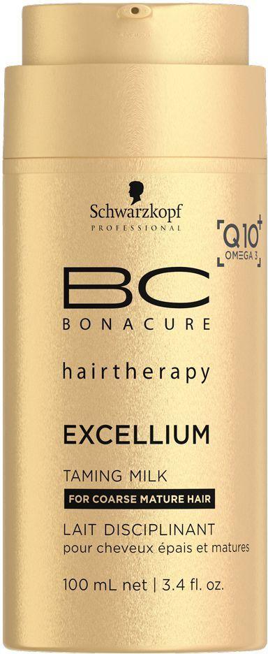 Bonacure Смягчающее молочко Excellium Taming MILK 100 мл1967957Смягчающее молочко BC Excellium - это разглаживающий бархатный крем для защиты волос при сушке феном. Катионные ухаживающие ингредиенты и фильм формеры защищают кутикулу от чрезмерного нагрева. Пантенол обеспечивает дополнительное увлажнение, а липиды Omega 3 питают, разглаживают и усиливают блеск