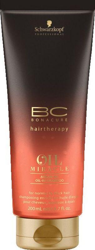 Bonacure Шампунь для жестких и толстых волос Oil Miracle Shampoo 200 мл2074779Шампунь для жестких волос. Содержит в своем составе масла при этом очищает волосы не перегружая. Невесомые частицы масла проникают в структуру волоса заполняя разрывы и выравнивая пористость. Обеспечивает ощутимую мягкость и насыщенный блеск. Рекомендуется использовать в комплексе с маслом для жестких волос BC Oil Miracle и; или кондиционером для жестких волос BC Oil Miracle Gold Shimmer и; или маской для жестких волос BC Oil Miracle Gold Shimmer и; или Спрей - блеск BC Oil Miracle Divine Polish и; или спреем маслом BC Oil Miraclre Oil Mist thick hair.