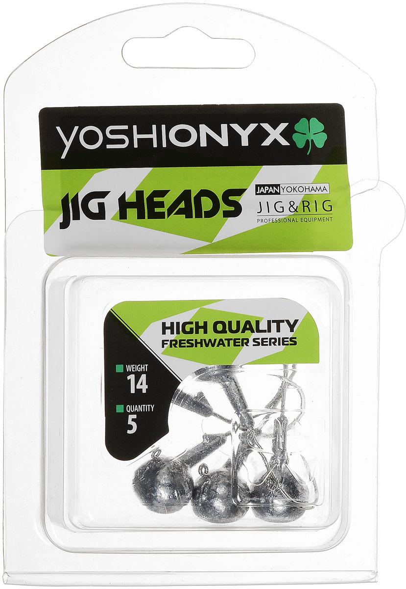 Джиг-головка Yoshi Onyx JIG Bros. Шар 1, крючок Gamakatsu, 14 г, 5 шт96501Джиг-головки Yoshi Onyx JIG Bros. Шар 1 предназначены для огрузки спиннинговых приманок. Форма шар является одной из самых популярных в джиговых оснастках из-за ее универсальности. Шары с успехом применяются практически на всех водоемах. Джиг-головки оснащены крючком Gamakatsu. Такой крючок прекрасно пробивает жесткую пасть крупного судака, щуки и сома. Несмотря на кажущуюся простоту этих грузил, от правильного подбора во многом зависит клев хищника. Выбирайте джиговую головку в зависимости от предполагаемого места ловли и используемой с ней приманки, возможной глубины, скорости течения, ветра и прочего.