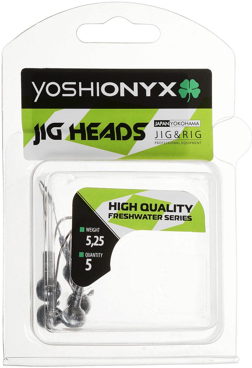 Джиг-головка Yoshi Onyx JIG Bros. Шар 1, крючок Gamakatsu, 5,25 г, 5 шт96496Джиг-головки Yoshi Onyx JIG Bros. Шар 1 предназначены для огрузки спиннинговых приманок. Форма шар является одной из самых популярных в джиговых оснастках из-за ее универсальности. Шары с успехом применяются практически на всех водоемах. Джиг-головки оснащены крючком Gamakatsu. Такой крючок прекрасно пробивает жесткую пасть крупного судака, щуки и сома. Несмотря на кажущуюся простоту этих грузил, от правильного подбора во многом зависит клев хищника. Выбирайте джиговую головку в зависимости от предполагаемого места ловли и используемой с ней приманки, возможной глубины, скорости течения, ветра и прочего.