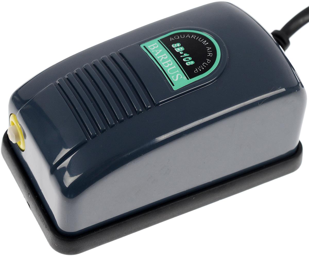 Компрессор воздушный Barbus, с регулятором, 3 л/минAIR 001Воздушный компрессор Barbus изготовлен из высококачественных материалов для снижения шума и вибрации. Изделие оснащено регулятором скорости потока воздуха. Мощность: 2,5 Вт. Напряжение: 220-240В. Частота: 50/60 Гц. Производительность: 3 л/мин. Рекомендуемый объем аквариума: 0-50 л. Уважаемые клиенты! Обращаем ваше внимание на возможные изменения в цвете некоторых деталей товара. Поставка осуществляется в зависимости от наличия на складе.