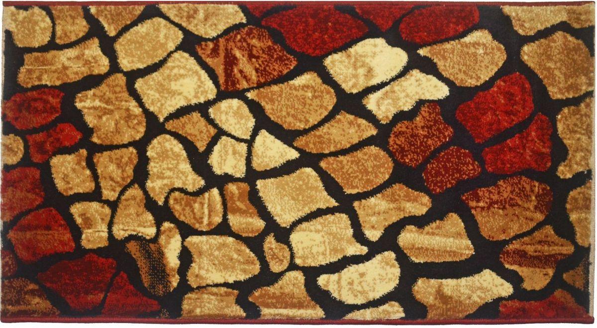 Ковер Kamalak Tekstil, 80 х 150 см. УК-0536УК-0536Ковер Kamalak Tekstil изготовлен из прочного синтетического материала heat-set, улучшенного варианта полипропилена (эта нить получается в результате его дополнительной обработки). Полипропилен износостоек, нетоксичен, не впитывает влагу, не провоцирует аллергию. Структура волокна в полипропиленовых коврах гладкая, поэтому грязь не будет въедаться и скапливаться на ворсе. Практичный и износоустойчивый ворс не истирается и не накапливает статическое электричество. Ковер обладает хорошими показателями теплостойкости и шумоизоляции. Оригинальный рисунок позволит гармонично оформить интерьер комнаты, гостиной или прихожей. За счет невысокого ворса ковер легко чистить. При надлежащем уходе синтетический ковер прослужит долго, не утратив ни яркости узора, ни блеска ворса, ни упругости. Самый простой способ избавить изделие от грязи - пропылесосить его с обеих сторон (лицевой и изнаночной). Влажная уборка с применением шампуней и моющих средств не...