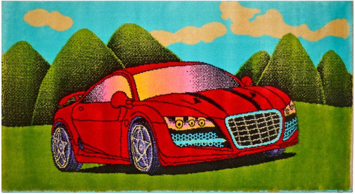 Ковер детский Kamalak Tekstil Красная машинка, 80 х 150 смУКД-2068Детский ковер Kamalak Tekstil изготовлен из высококачественного полипропилена. Полипропилен износостоек, нетоксичен, не впитывает влагу, не провоцирует аллергию. Структура волокна в полипропиленовых коврах гладкая, поэтому грязь не будет въедаться и скапливаться на ворсе. Практичный и износоустойчивый ворс не истирается и не накапливает статическое электричество. Ковер обладает хорошими показателями теплостойкости и шумоизоляции. Оригинальный рисунок позволит гармонично оформить интерьер детской комнаты. За счет невысокого ворса ковер легко чистить. При надлежащем уходе синтетический ковер прослужит долго, не утратив ни яркости узора, ни блеска ворса, ни упругости. Самый простой способ избавить изделие от грязи - пропылесосить его с обеих сторон (лицевой и изнаночной). Влажная уборка с применением шампуней и моющих средств не противопоказана. Хранить рекомендуется в свернутом рулоном виде.