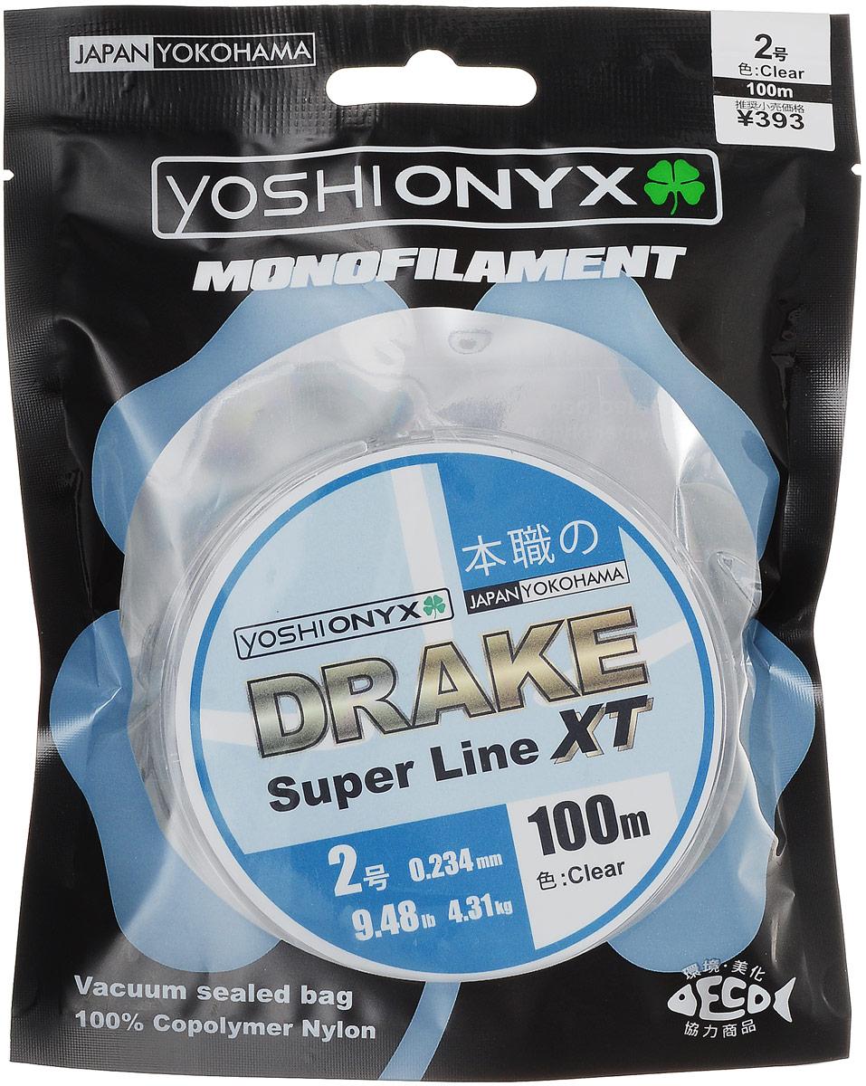 Леска Yoshi Onyx Drake Super Line XT, цвет: прозрачный, 100 м, 0,234 мм, 4,31 кг89471Леска Yoshi Onyx Drake Super Line XT выполнена из прозрачного монофила (нейлон), что делает ее универсальной. Скользкий и мягкий, этот материал невероятно прочен и отлично выдерживает разрывную нагрузку на большинстве узлов. Леска обладает непревзойденными водоотталкивающими свойствами и практически незаметна в воде, что делает ее незаменимой при ловле в условии низких температур. Данная леска обладает повышенной устойчивостью к истиранию, прочностью и превосходной чувствительностью.