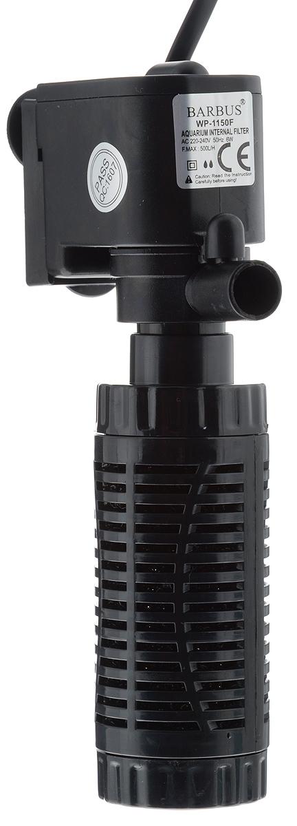 Фильтр аквариумный внутренний Barbus, стаканного типа, 500 л/ч, 6 Вт FILTER 012