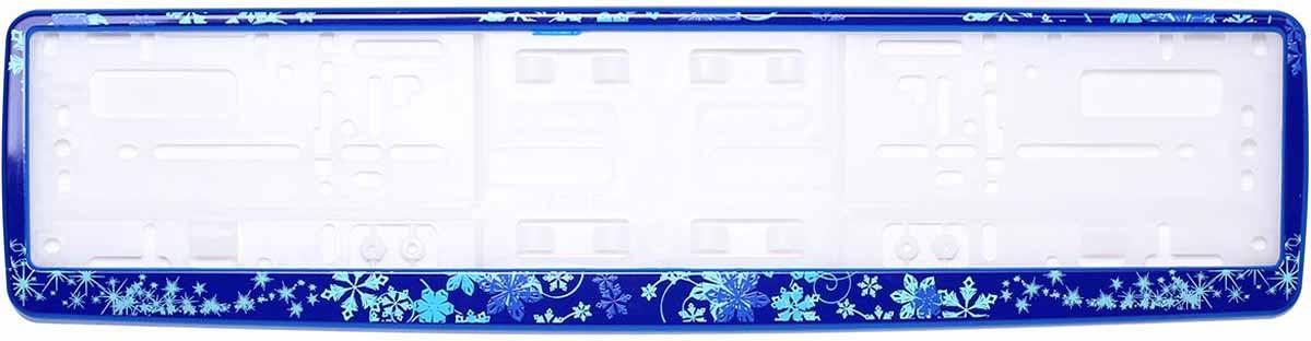 Рамка для номера Концерн Знак Зима, цвет: синий