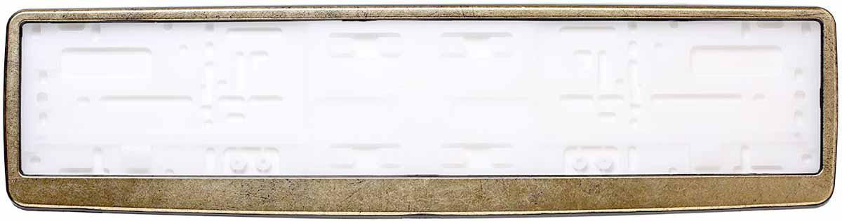 Рамка для номера Концерн Знак Винтаж, цвет: черный, золотоЗ0000015499Рамка для номера. Предназначена для крепления государственного регистрационного знака. Материал основания - полипропилен, материал лицевой панели ABS-пластик.