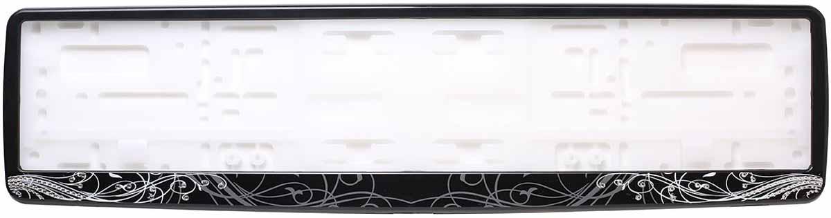 Рамка для номера Концерн Знак Ар-Деко, с кристаллами Swarovski, цвет: черныйЗ0000015534Рамка для номера. Предназначена для крепления государственного регистрационного знака. Материал основания - полипропилен, материал лицевой панели ABS-пластик.