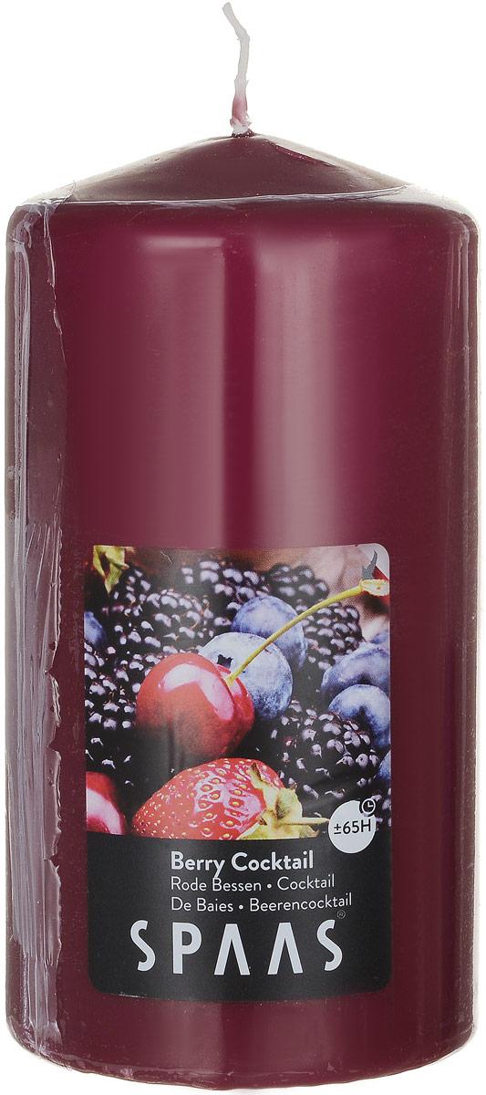 Свеча ароматизированная Spaas Ягодный коктейль, высота 15 см0004800273Ароматизированная свеча Spaas Ягодный коктейль изготовлена из парафина с добавлением натуральных красок и ароматизаторов, не выделяющих вредные вещества при горении. Фитиль выполнен из натурального хлопка. Оригинальная свеча с тонким, нежным ароматом добавит романтики в ваш дом и создаст неповторимую атмосферу уюта, тепла и нежности. Такая свеча не только поможет дополнить интерьер вашей комнаты, но и станет отличным подарком. Время горения: 65 ч.