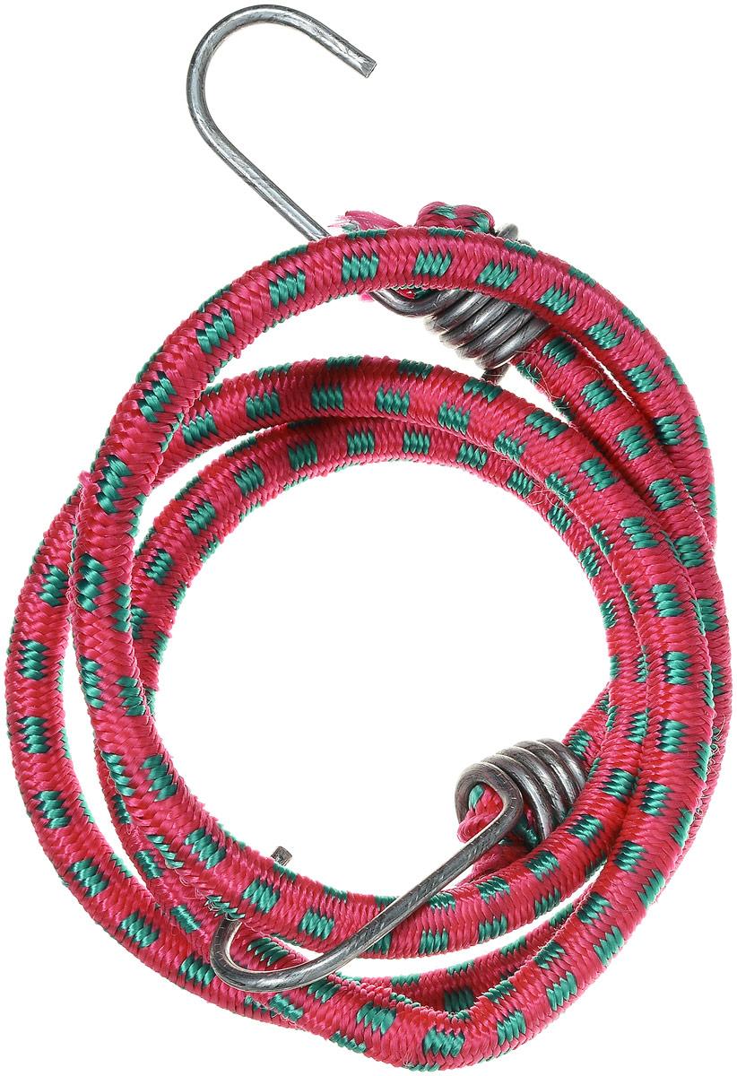 Резинка багажная МастерПроф, с крючками, цвет: красный, зеленый, 1 х 110 см. АС.020023АС.020023_красный, зеленыйБагажная резинка МастерПроф, выполненная из синтетического каучука, оснащена специальными металлическими крюками, которые обеспечивают прочное крепление и не допускают смещение груза во время его перевозки. Резинка применяется для закрепления предметов к багажнику. Она позволит зафиксировать как небольшой груз, так и довольно габаритный. Материал: синтетический каучук. Температура использования: -15°C до +50°C. Безопасное удлинение: 60%. Диаметр резинки: 10 мм. Длина резинки: 110 см.