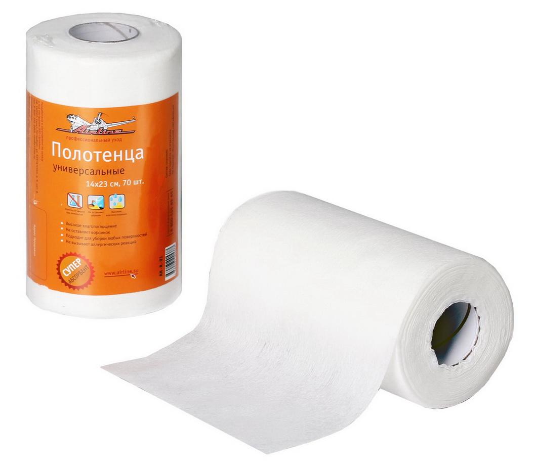 Полотенце универсальное Airline, 14 х 23 см, 70 штAN-R-01Универсальные полотенца Airline для уборки, помогут поддержанию чистоты в салоне автомобиля, дома и в любом другом месте. Полотенца выполнены из вискозы и полиэстера. С помощью полотенец может осуществляться исключительно влажная уборка. Изделия собирают даже мельчайшие загрязнения и тщательно впитывают влагу. Преимущества: - Высокое влагопоглощение, - Не оставляет ворсинок, - Подходит для уборки любых поверхностей, - Не вызывает аллергических реакций. Не подлежит обязательной сертификации.