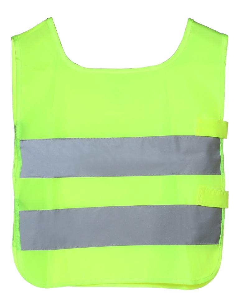 Жилет детский Airline, со светоотражающими полосами, цвет: желтыйARW-CV-01Светоотражающий жилет для детей Airline поможет обезопасить ребенка в темное время суток, а также на затемненной местности. Он имеет универсальный размер и яркий цвет. На поверхность жилета нанесены две широкие горизонтально расположенные светоотражающие полосы. Состав из полиэфира позволяет легко очищать изделие от загрязнений, а также обеспечивает долгий срок службы жилета. Преимущества: Износоустойчивый материал. Легко чистятся. Универсальный размер. Высокие светоотражающие свойства. Размер: универсальный, 41 х 36 см. Российский размер: 26-30.
