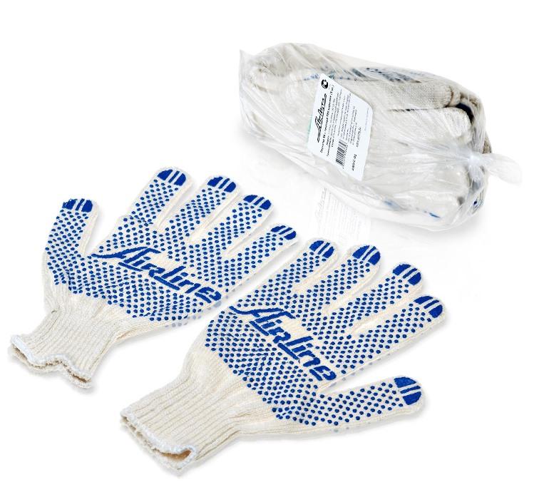 Перчатки Airline, с ПВХ покрытием, цвет: белый, 5 пар, 150Т/7,5 классAWG-C-01Данная модель перчаток сочетает в себе демократичную цену и гарантированные качественные показатели. Перчатки изготовлены из ПВХ материала и имеют нанесенное точечное покрытие. Изделие обладает высоким порогом износа, что обеспечивает возможность длительной эксплуатации. В комплект входит пять пар перчаток идентичного размера.