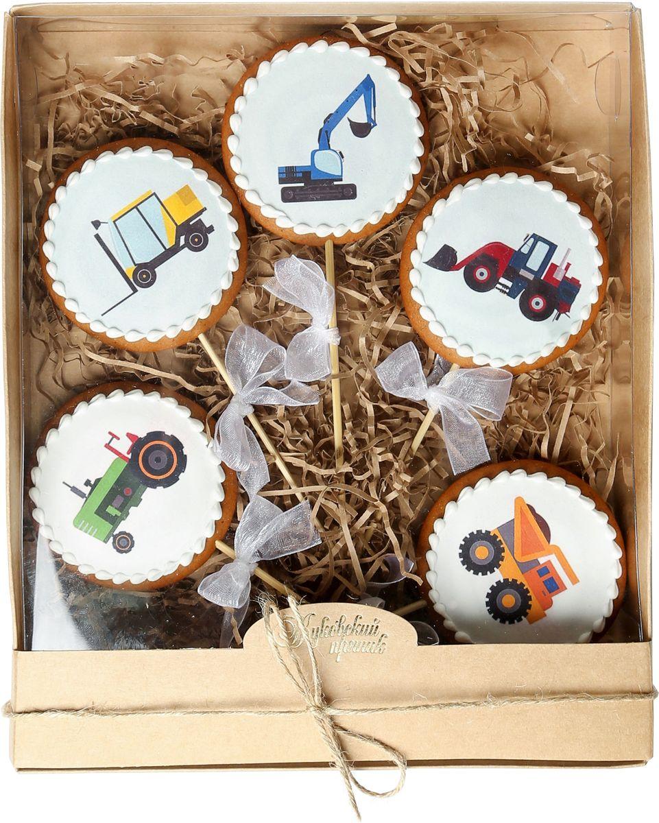 Жуковский пряник Подарочный набор Стройка, 5 шт00-00002402Медово-имбирный пряник с росписью из айсинга, фотопечатью на сахарной бумаге. Отличный подарок для любимых. Без ГМО.