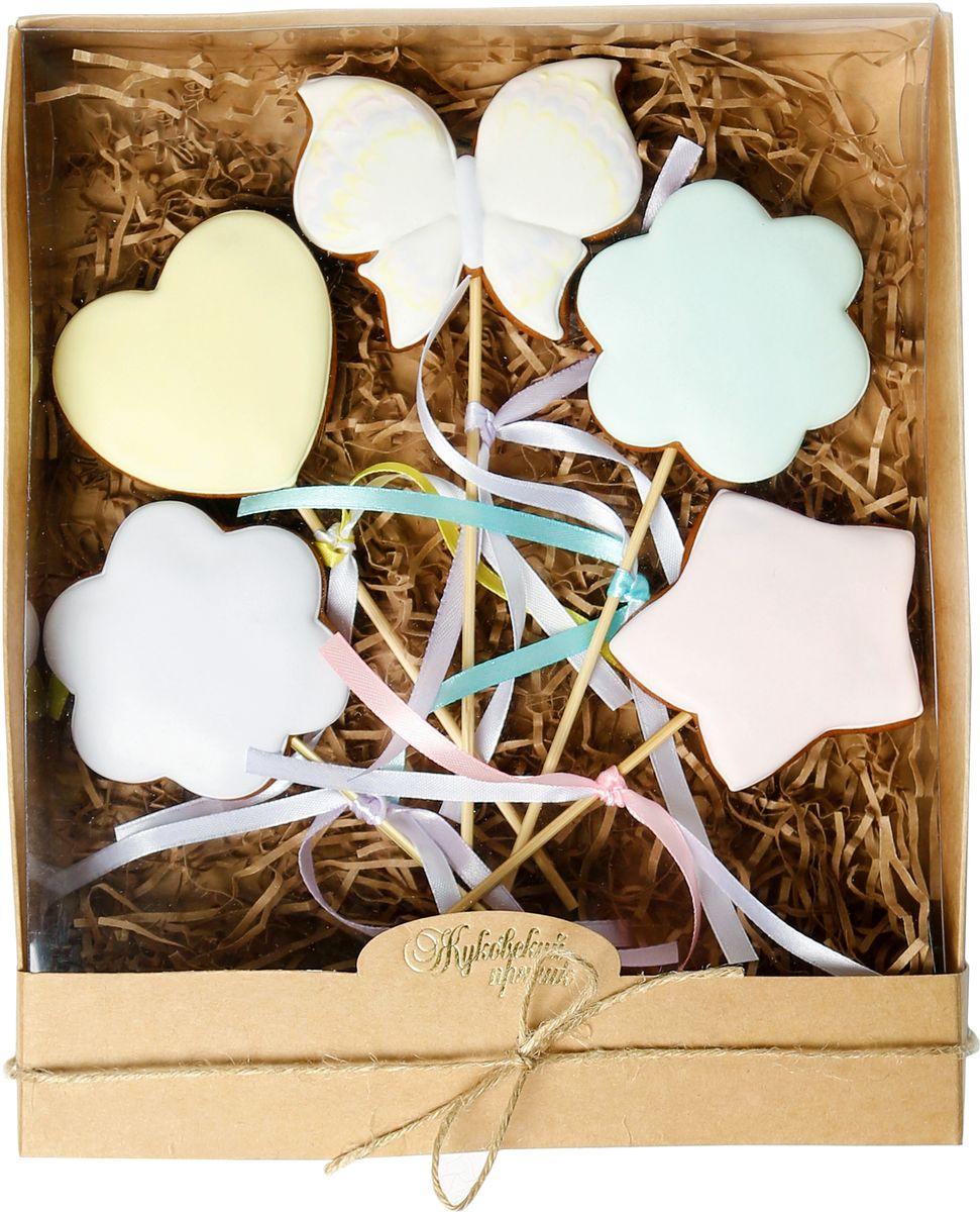 Жуковский пряник Подарочный набор Баттерфляй, 5 шт00-00002400Медово-имбирный пряник с росписью из айсинга, фотопечатью на сахарной бумаге. Отличный подарок для любимых. Без ГМО.