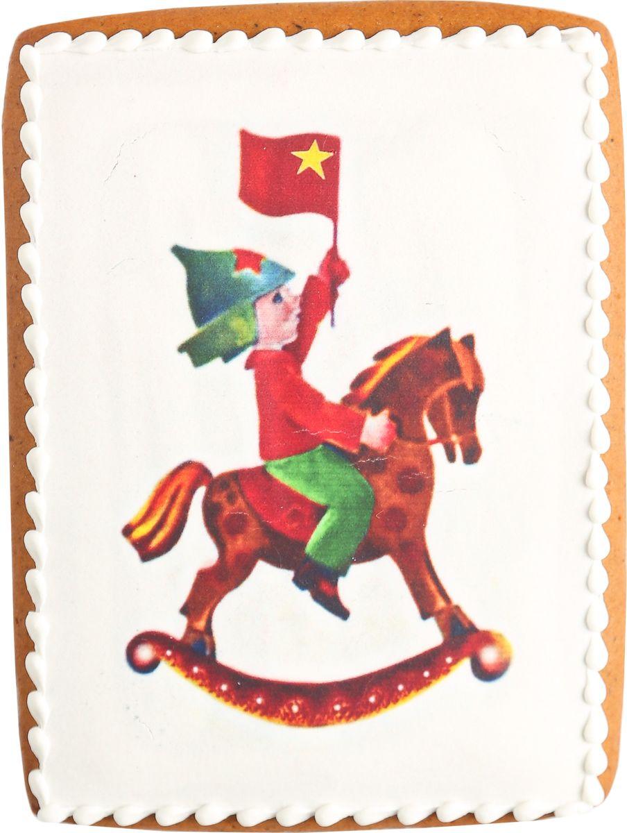 Жуковский пряник Подарочный набор Мальчик на лошадке00-00002420Медово-имбирный пряник с росписью из айсинга, фотопечатью на сахарной бумаге. Отличный подарок для любимых. Без ГМО.