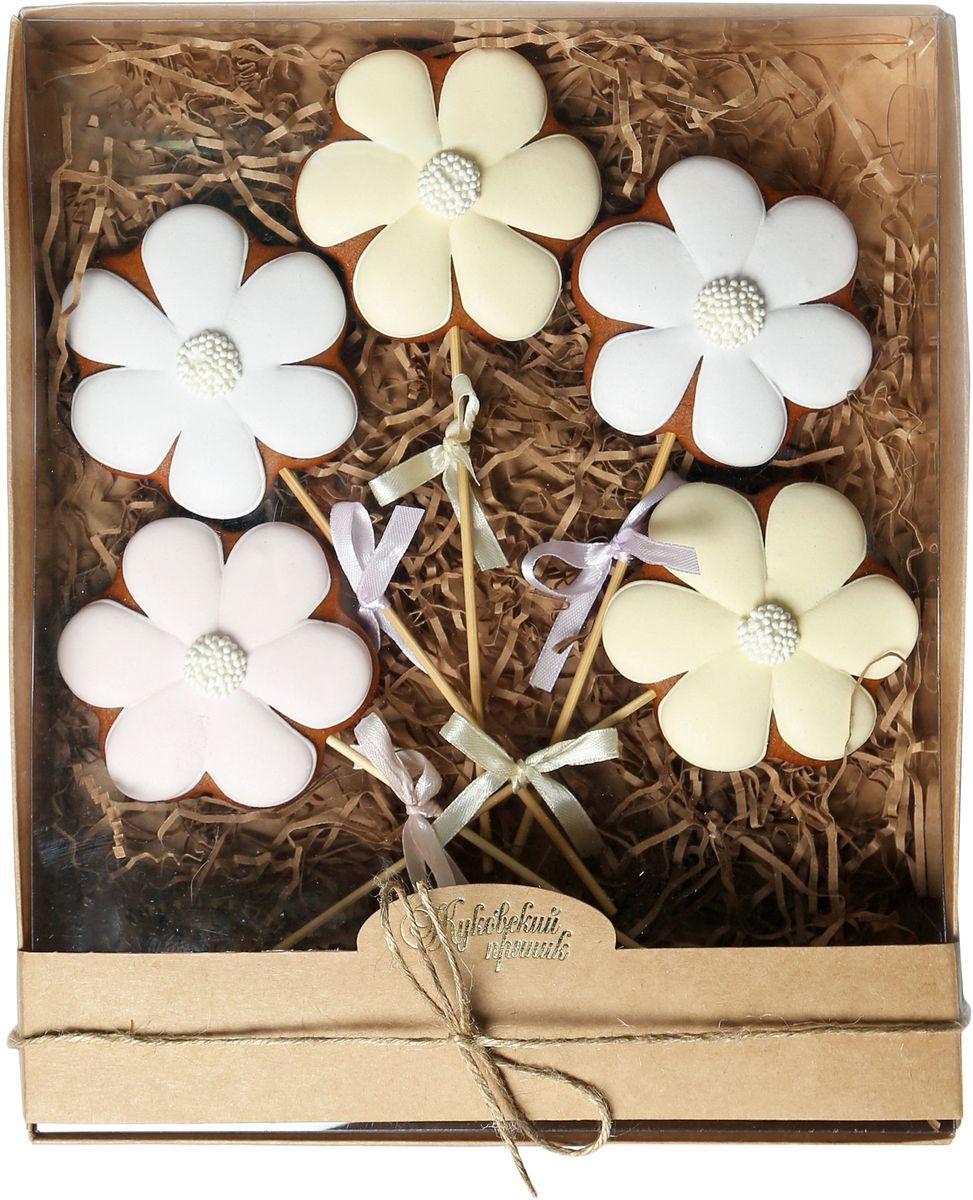 Жуковский пряник Подарочный набор Цветок, 5 шт00-00002421Медово-имбирный пряник с росписью из айсинга, фотопечатью на сахарной бумаге. Отличный подарок для любимых.