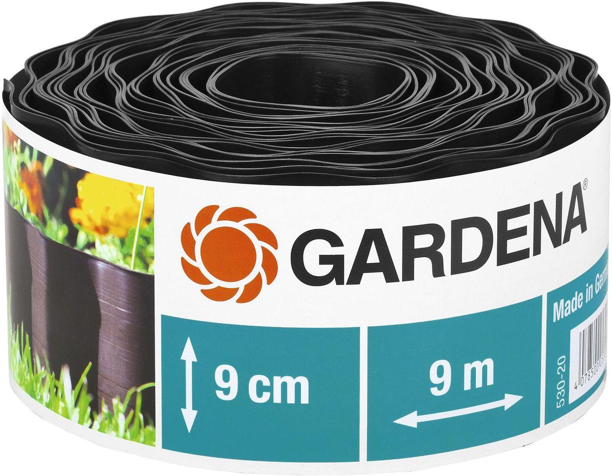 Бордюр Gardena, цвет: черный, ширина 9 см, длина 9 м00530-20.000.00Бордюр GARDENA, выполненный из высококачественного пластика, обеспечивает чистоту краев цветочных клумб. Четкая граница предотвращает чрезмерный рост растительности и распространение корней. В рулоне 9 м бордюра высотой 9 см, 15 см или 20 см.