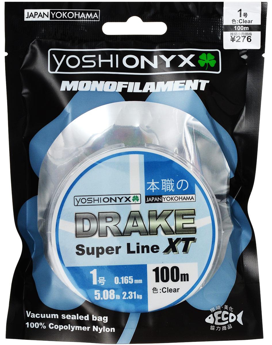 Леска Yoshi Onyx Drake Super Line XT, цвет: прозрачный, 100 м, 0,165 мм, 2,31 кг89468Леска Yoshi Onyx Drake Super Line XT выполнена из прозрачного монофила (нейлон), что делает ее универсальной. Скользкий и мягкий, этот материал невероятно прочен и отлично выдерживает разрывную нагрузку на большинстве узлов. Леска обладает непревзойденными водоотталкивающими свойствами и практически незаметна в воде, что делает ее незаменимой при ловле в условии низких температур. Данная леска обладает повышенной устойчивостью к истиранию, прочностью и превосходной чувствительностью.