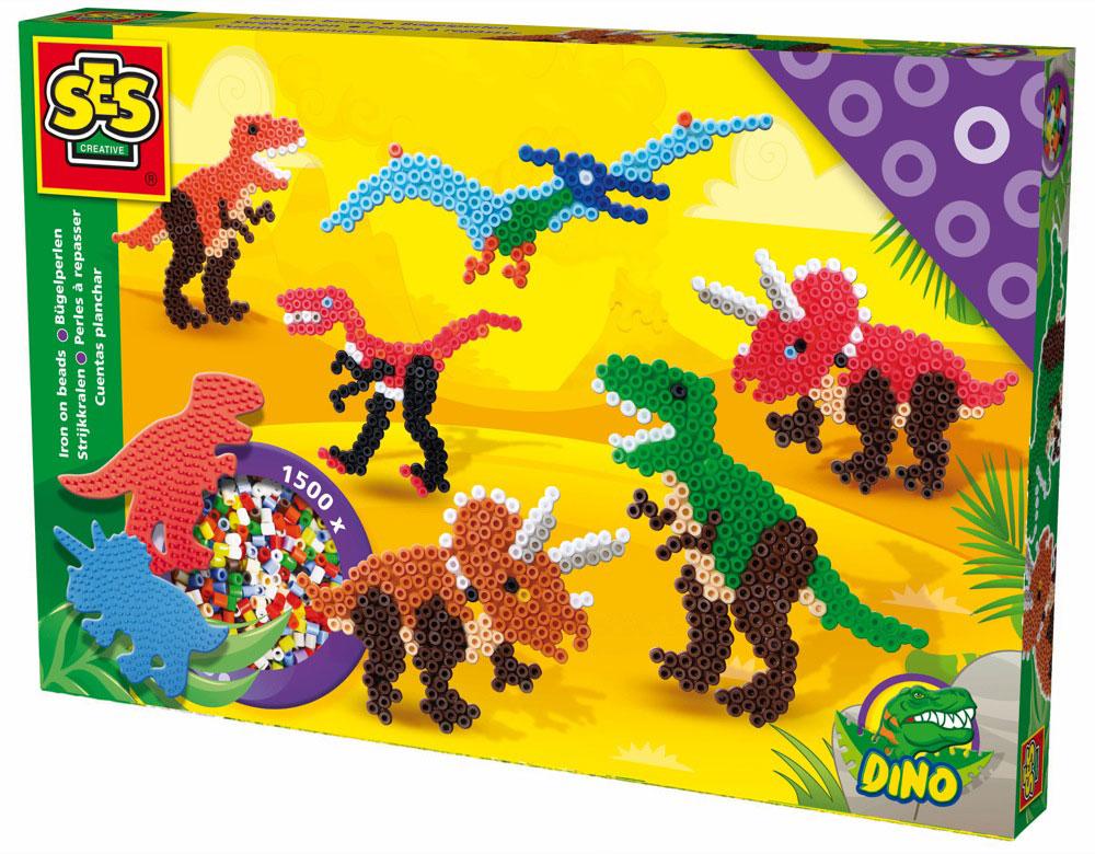 SES Creative Набор для термомозаики Динозавры