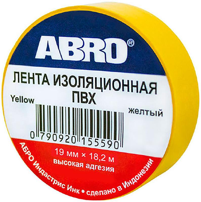 Изолента Abro, цвет: желтый, 19 мм х 18,2 мET-912-20-YE-RПредназначение: - Изоляция проводов низкого напряжения. - Намотка пучков проводки - Маркирование Преимущества: -Эластичная -Устойчива к растяжению -Имеет высокую адгезию