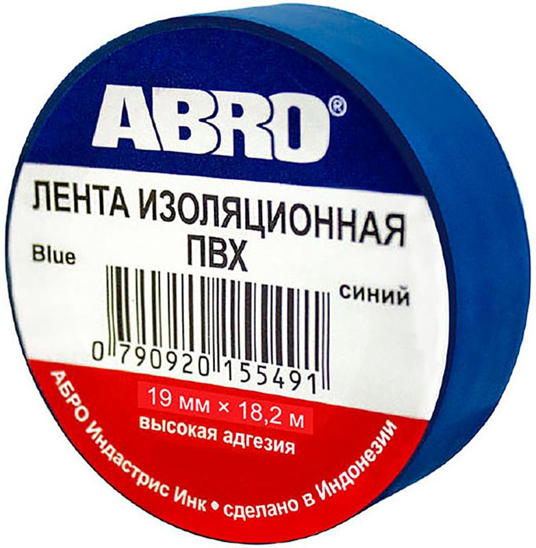 Изолента Abro, цвет: синий, 19 мм х 18,2 мET-912-20-BL-RПредназначение: - Изоляция проводов низкого напряжения. - Намотка пучков проводки - Маркирование Преимущества: -Эластичная -Устойчива к растяжению -Имеет высокую адгезию