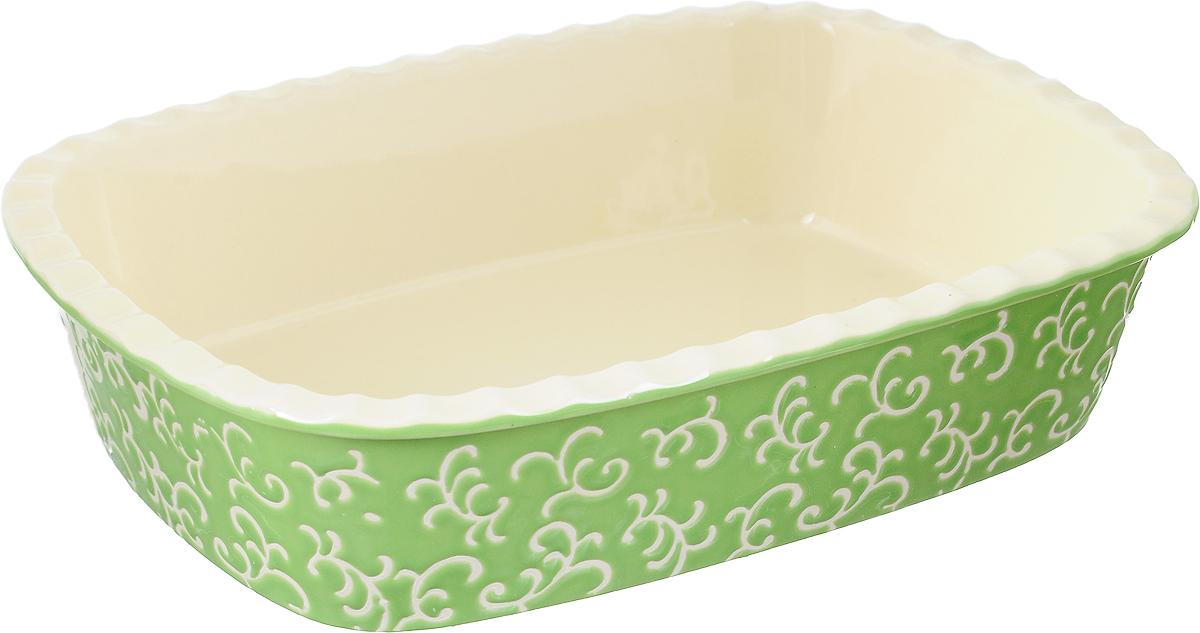 """Форма для запекания """"Appetite"""", прямоугольная, цвет: зеленый, 30 х 22 х 7,5 см YR2026A-12"""