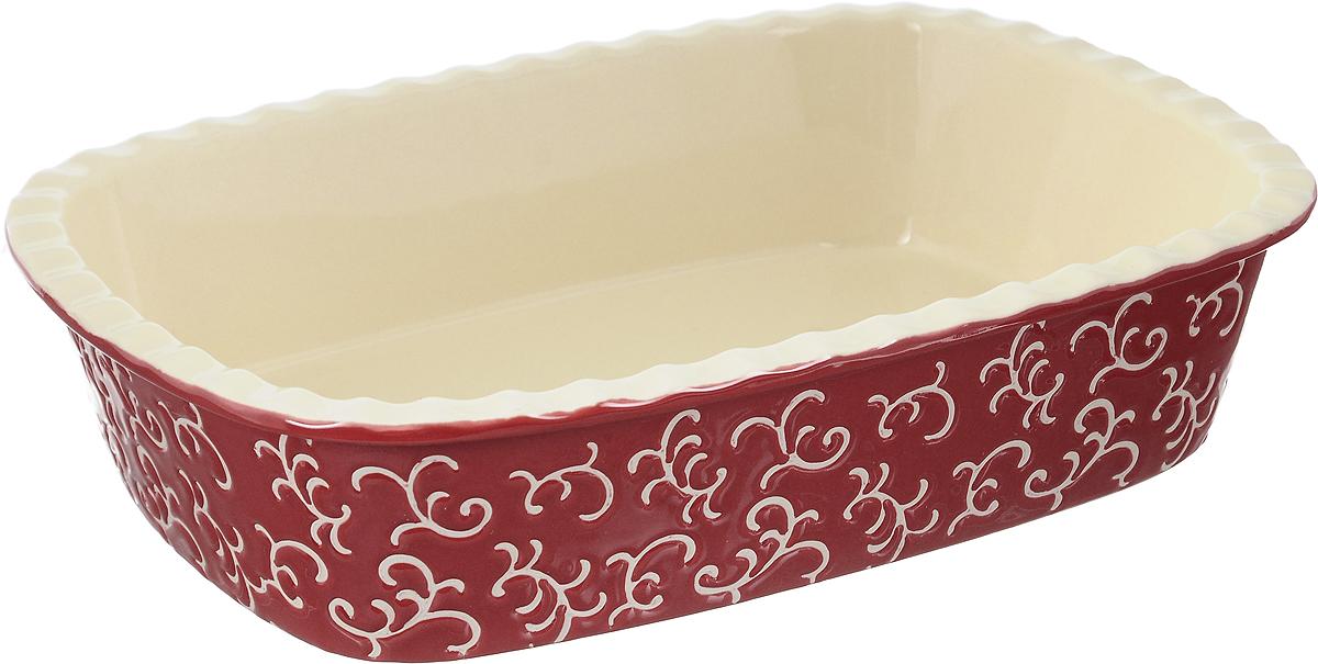 Форма для запекания Appetite, прямоугольная, цвет: красный, 30 х 22 х 7,5 смYR2026Q-12Форма для запекания Appetite изготовлена из экологически чистой жаропрочной керамики с глазурованным покрытием. Изделие обеспечивает равномерное приготовление блюд по всей поверхности и долго сохраняет тепло. Пища, приготовленная в керамической посуде, сохраняет свои вкусовые качества и не может нанести вред здоровью человека, благодаря экологической чистоте материала. Керамика - один из самых лучших материалов, который удерживает тепло, медленно и равномерно его распределяет. Такая форма подходит для запекания и тушения разнообразных блюд: мяса, птицы, овощей. Посуда не впитывает посторонние запахи, не изменяет вкус продуктов и легко чистится. Внешние стенки изделия дополнены красивым рельефным узором. Форма пригодна для использования в духовом шкафу и в микроволновой печи при температуре до 220°С. Можно использовать для хранения продуктов в холодильнике. Пригодна для мытья в посудомоечной машине.
