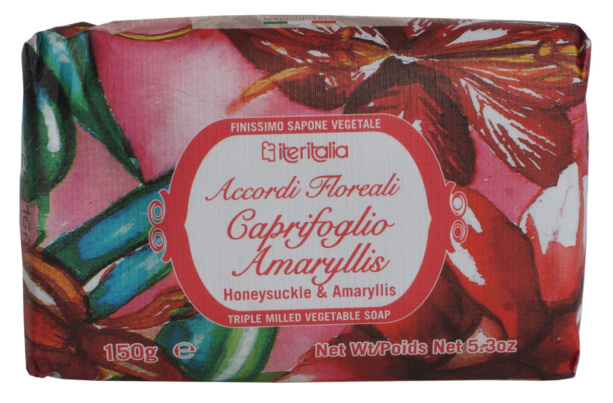 Iteritalia Мыло натуральное косметическое с оливковым маслом ,аромат жимолость и амариллис 150 гр.967Натуральное косметическое мыло с ароматами жимолости и амариллиса. Высококачественное натуральное растительное мыло, обогащенное оливковым маслом, обладает питательным, увлажняющим и успокаивающим свойствами. Нежно очищает кожу, делая ее гладкой и бархатистой. Мягкое мыло, упакованное в эко-бумагу, имеет тонкий, изысканный аромат жимолости и амариллиса. Подходит для всех типов кожи.