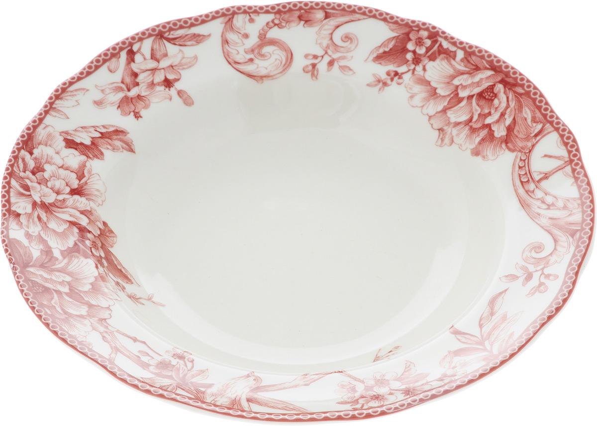 Тарелка глубокая Sango Ceramics Аделаида Бордо, диаметр 23,5 смUTAB97920Глубокая тарелка Sango Ceramics Аделаида Бордо изготовлена из высококачественной керамики. Она украшена ярким цветочным рисунком. Такая тарелка сочетает в себе изысканный дизайн с максимальной функциональностью. Тарелка прекрасно впишется в интерьер вашей кухни и станет достойным подарком к любому празднику. Диаметр тарелки (по верхнему краю): 23,5 см. Высота тарелки: 4,5 см.