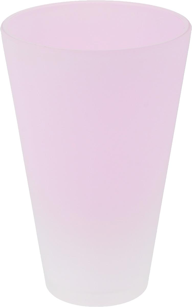 Кашпо NiNaGlass, цвет: розовый, высота 21 см91-014-Ф140 РОЗ-ФЛУОРКашпо NiNaGlass имеет уникальную форму, сочетающуюся как с классическим, так и с современным дизайном интерьера. Оно изготовлено из высококачественного стекла и предназначено для выращивания растений, цветов и трав в домашних условиях. Кашпо NiNaGlass порадует вас функциональностью, а благодаря лаконичному дизайну впишется в любой интерьер помещения. Диаметр кашпо (по верхнему краю): 14 см. Высота кашпо: 21 см.