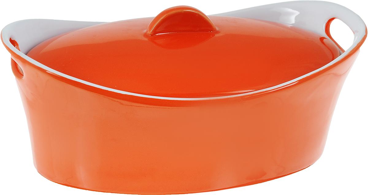 Кастрюля керамическая Appetite с крышкой, цвет: оранжевый, 1,2 лYR100050B-10Кастрюля Appetite изготовлена из экологически чистой жаропрочной керамики с глазурованным покрытием. Изделие обеспечивает равномерное приготовление блюд по всей поверхности и долго сохраняет тепло. Пища, приготовленная в керамической посуде, сохраняет свои вкусовые качества и не может нанести вред здоровью человека, благодаря экологической чистоте материала. Керамика - один из самых лучших материалов, который удерживает тепло, медленно и равномерно его распределяет. Такая кастрюля подходит для запекания, тушения и варки разнообразных блюд. Посуда не впитывает посторонние запахи, не имеет труднодоступных выступов или изгибов, которые накапливают грязь, и легко чистится. Пригодна для использования в духовом шкафу, в микроволновой печи при температуре до 220°С. Можно использовать для хранения продуктов в холодильнике. Пригодна для мытья в посудомоечной машине.