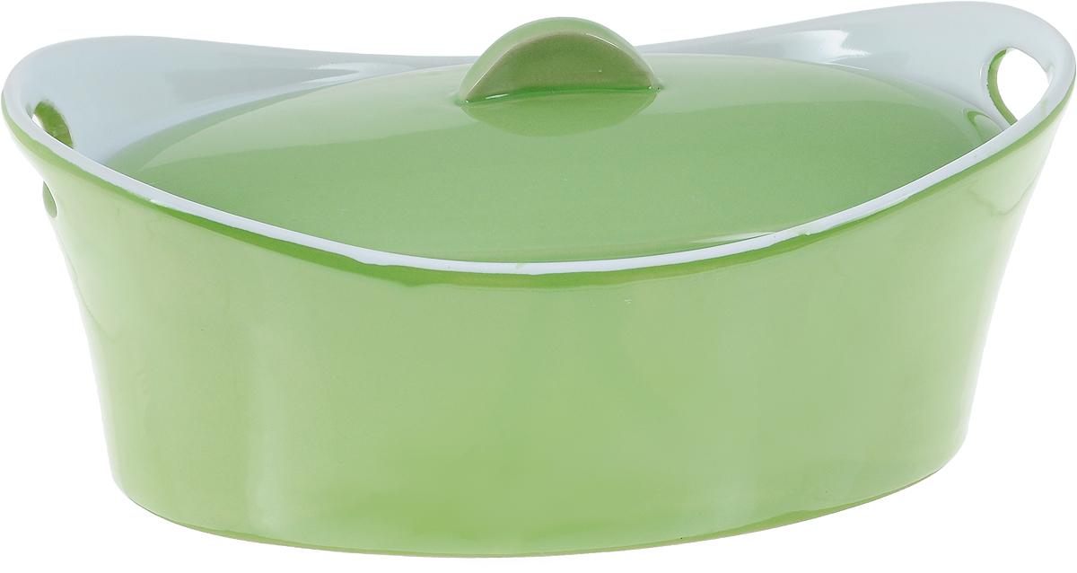 Кастрюля керамическая Appetite с крышкой, цвет: зеленый, 1,2 лYR100050A-10Кастрюля Appetite изготовлена из экологически чистой жаропрочной керамики с глазурованным покрытием. Изделие обеспечивает равномерное приготовление блюд по всей поверхности и долго сохраняет тепло. Пища, приготовленная в керамической посуде, сохраняет свои вкусовые качества и не может нанести вред здоровью человека, благодаря экологической чистоте материала. Керамика - один из самых лучших материалов, который удерживает тепло, медленно и равномерно его распределяет. Такая кастрюля подходит для запекания, тушения и варки разнообразных блюд. Посуда не впитывает посторонние запахи, не имеет труднодоступных выступов или изгибов, которые накапливают грязь, и легко чистится. Пригодна для использования в духовом шкафу, в микроволновой печи при температуре до 220°С. Можно использовать для хранения продуктов в холодильнике. Пригодна для мытья в посудомоечной машине.
